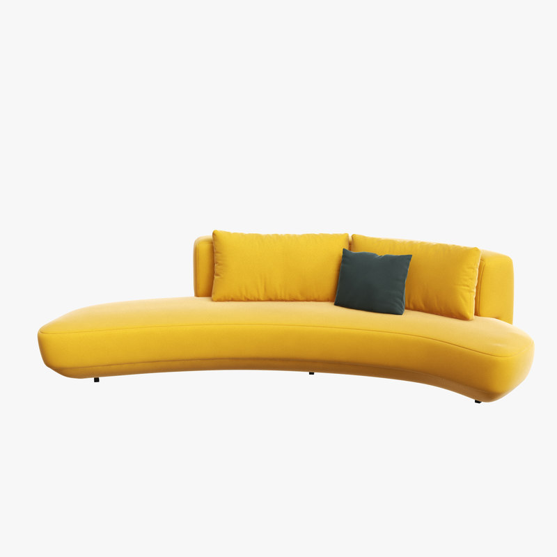 Audrey curved sofa interior model - TurboSquid 1275893