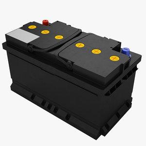 car battery 3D