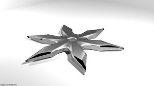 star throw 3D model