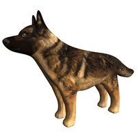 3D german shepherd dog figurine