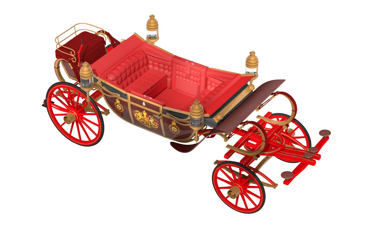 1902 state landau carriage 3D model