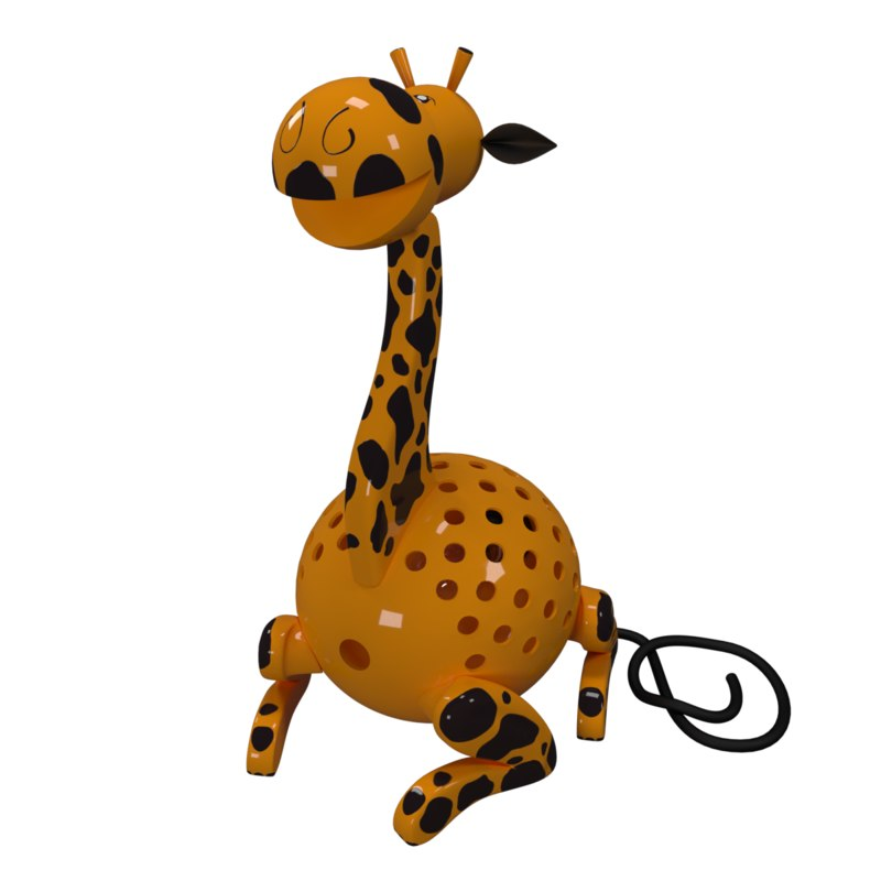 kids lamp giraffe 3D model