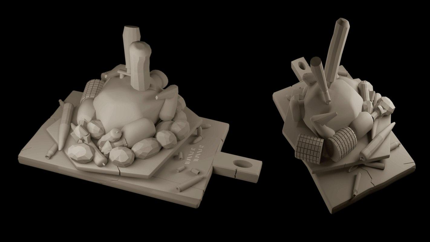 winner trophy pubg 3D model