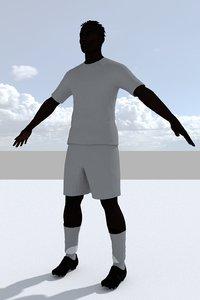 3D football player 3