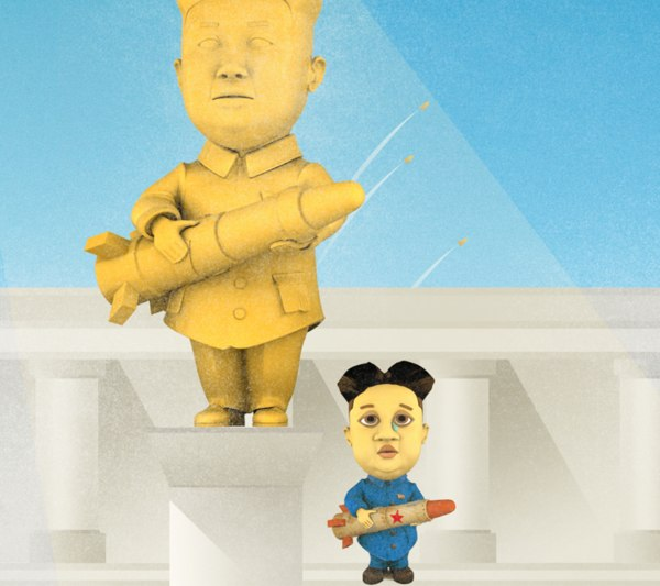 lonely kim cartoon character 3D model
