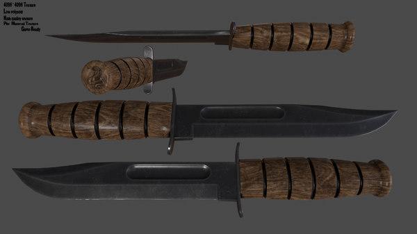 3D knife model