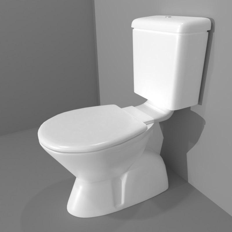 3D model pbr toilet suite