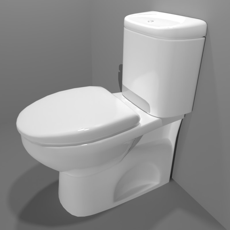 3D pbr coupled toilet suite
