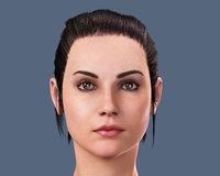 Realistic Woman Face