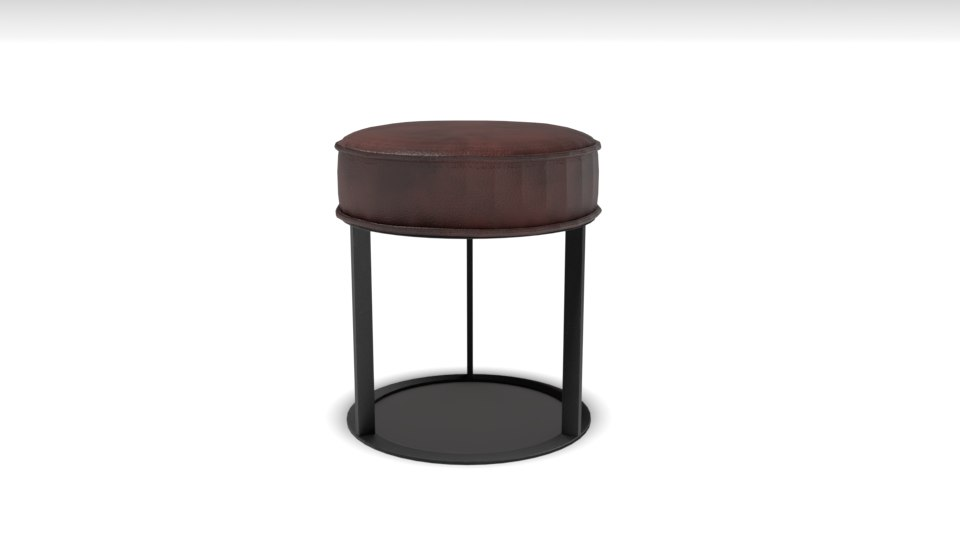 simple stool chair 3D model
