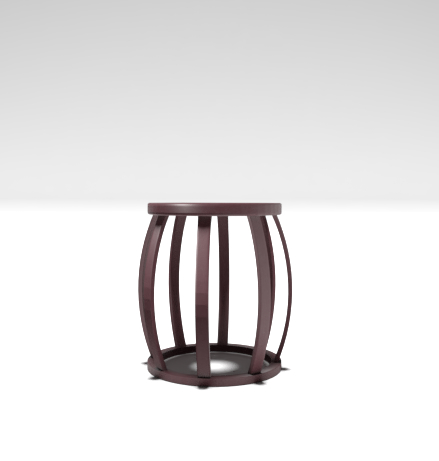 3D rendering stool chair