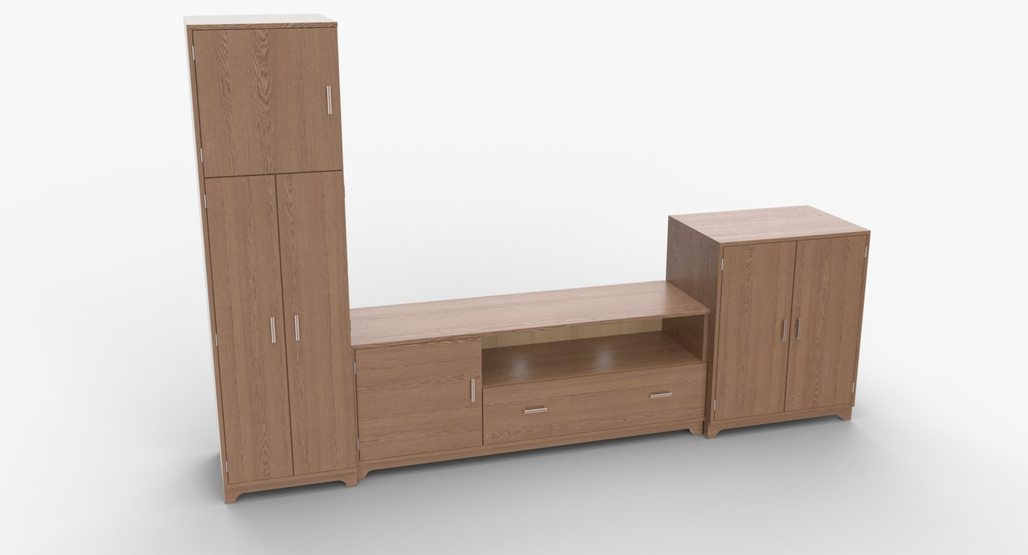 3D tv stand 54 model