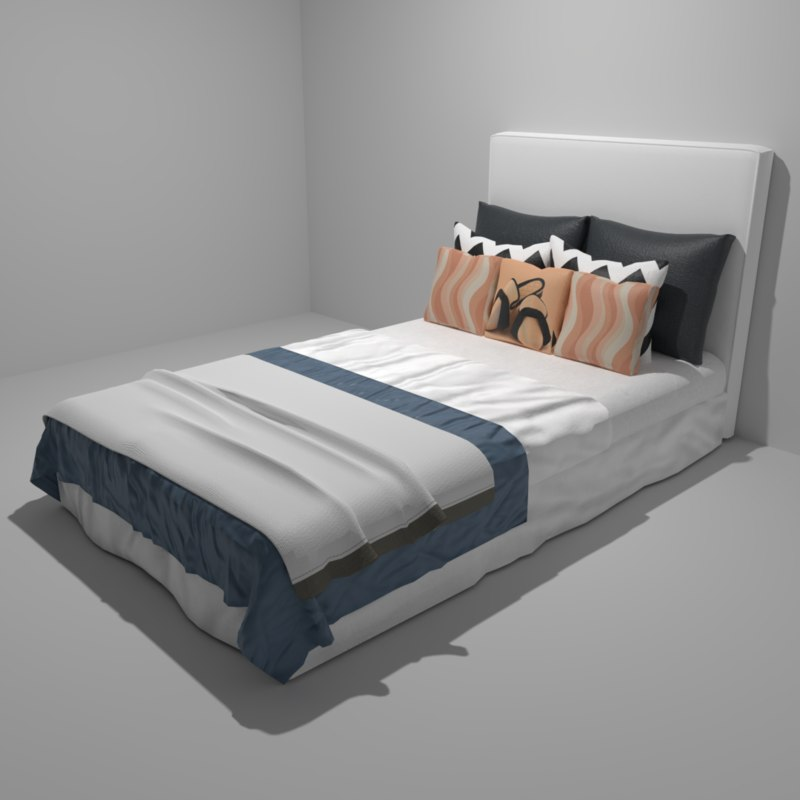 pbr bed master s bedroom 3D model