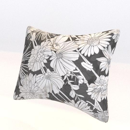 3D floral pillow