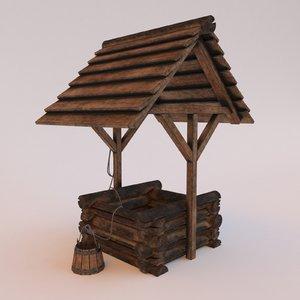 wooden modeled 3D model