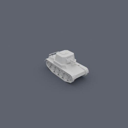cartoony panzer tank destroyer 3D model