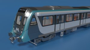 3D modern sydney metro model