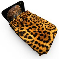 3D model leopard bed