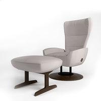 3D giorgetti magica chair armchair