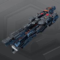 3D model destroyer
