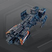 3D starship spacecraft model