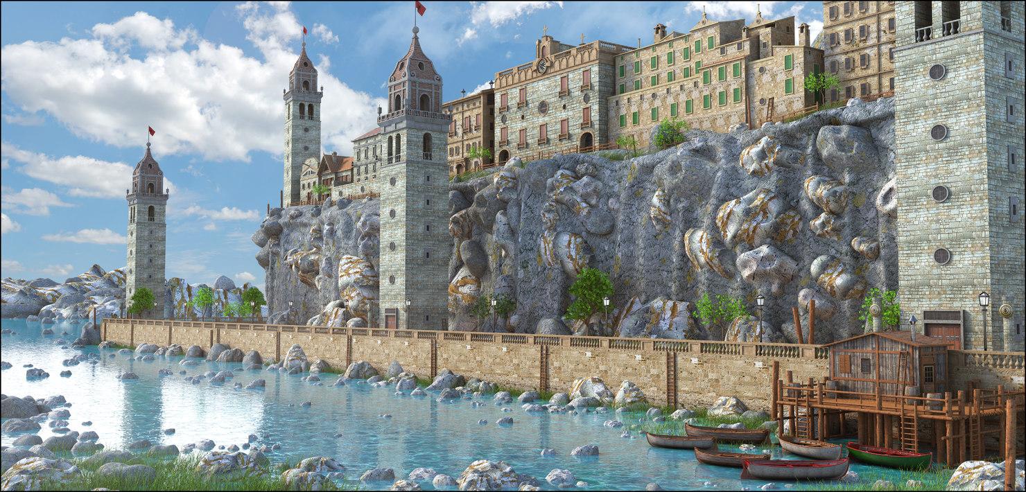 landscape building 3D