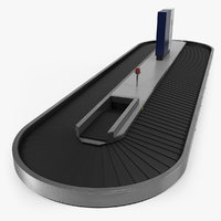 airport conveyor belt 3D model