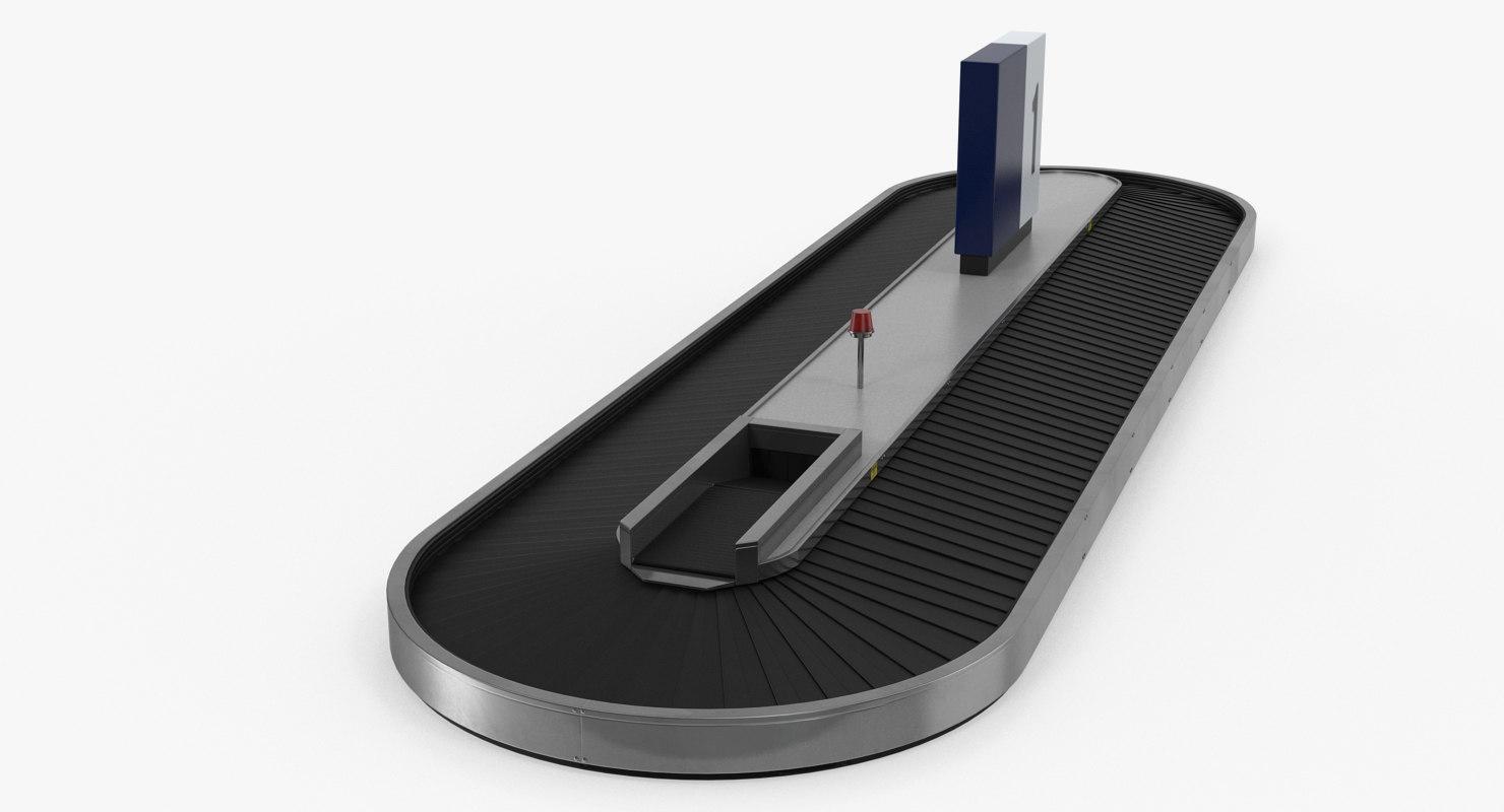 airport conveyor belt 3D model