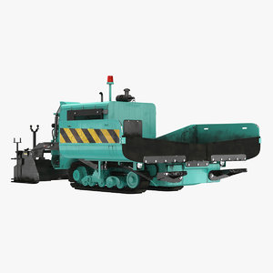 3D asphalt paving machine