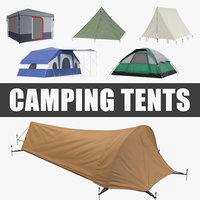 camping tents 3 3D