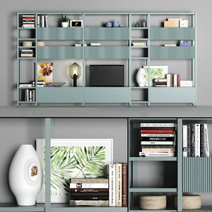 3D shelving cabinet