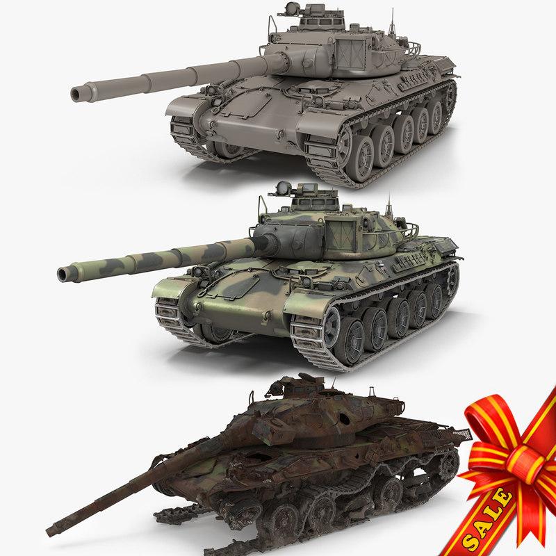 3D tanks amx30b model