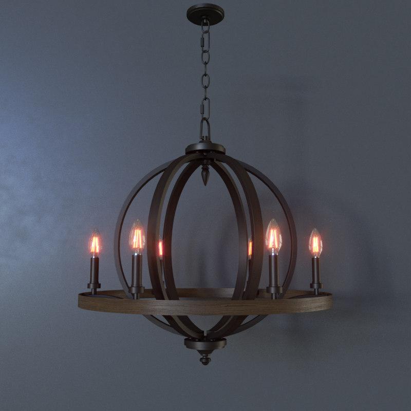 3D brayden ceiling lamp
