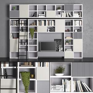tv shelves 3D model