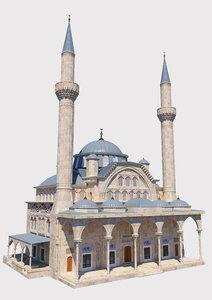 3D model mosque great islamic
