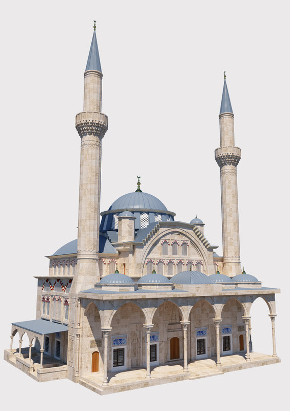 3D model mosque great islamic