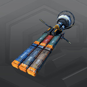 3D sf freighter 2f