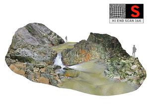 waterfall jungle thailand 3D model