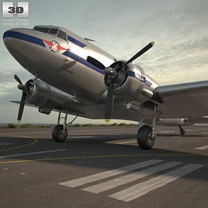 3D douglas dc-3 dc