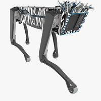Robot SpotMini Zebra Hair