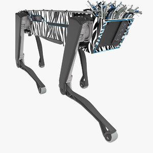 spotmini robot zebra 3D model