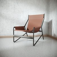 Frame Chair Leather Seat