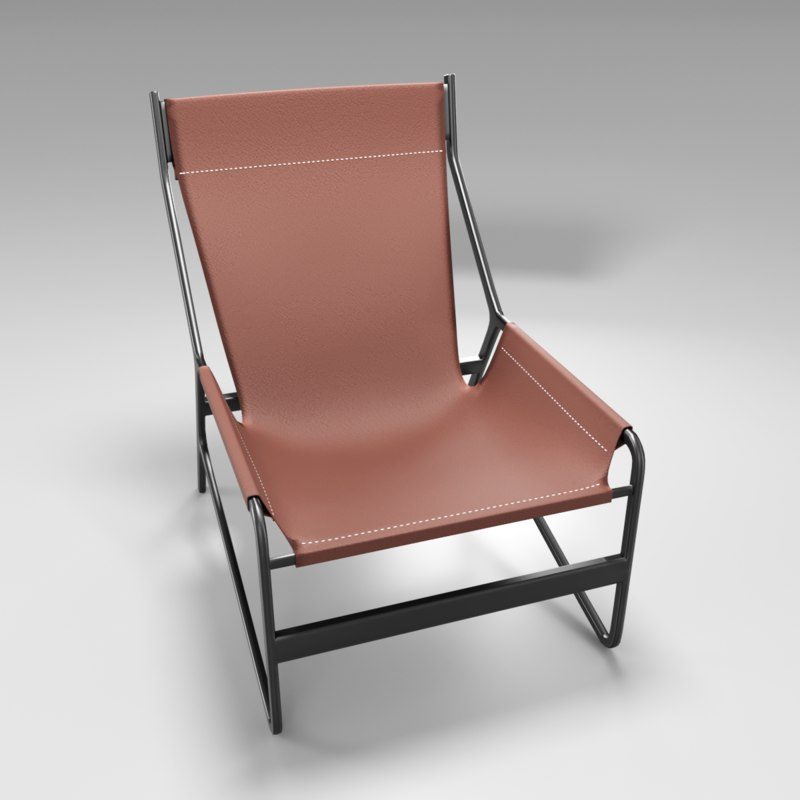 chair seat leather 3D model