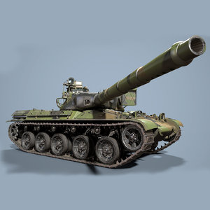 3D french tank pbr