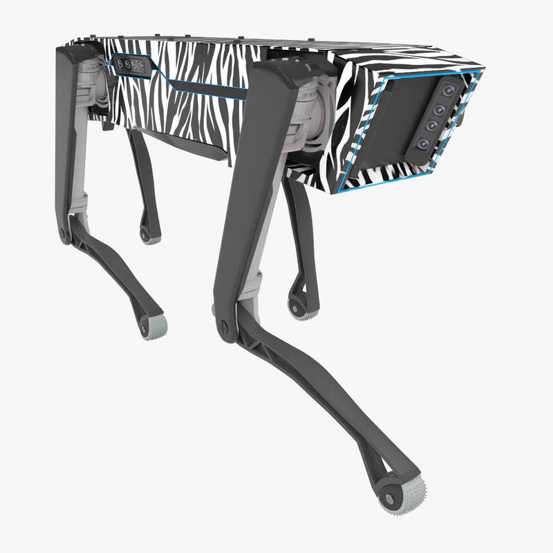3D spotmini robot zebra
