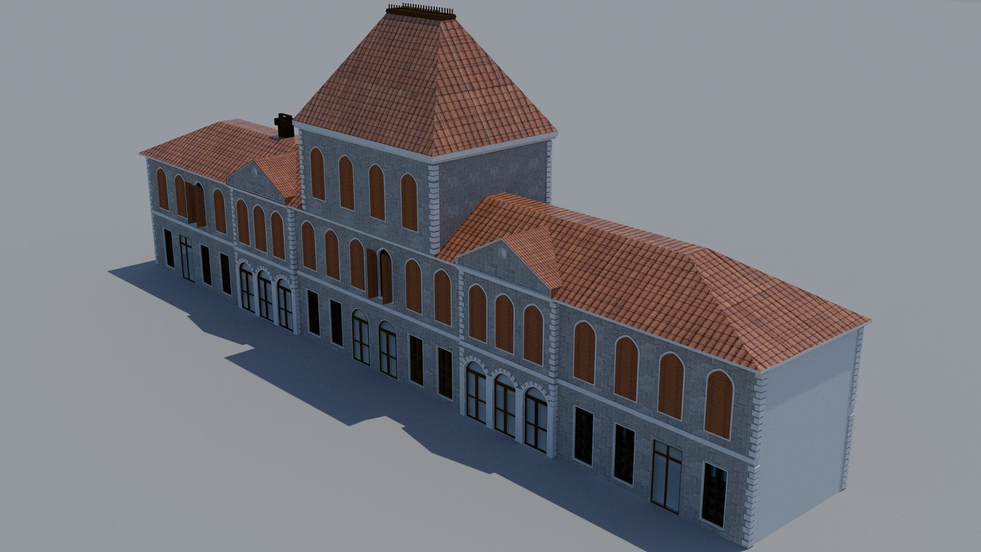 3D history old building