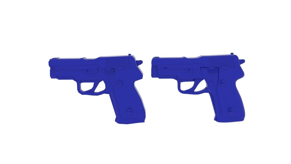 gun blue plastic 3D model
