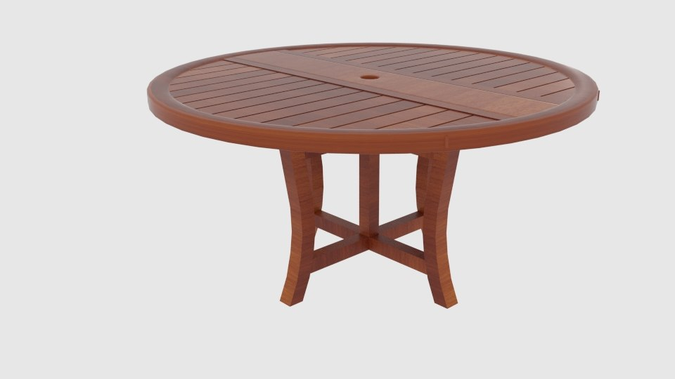 wooden folding table 2 model