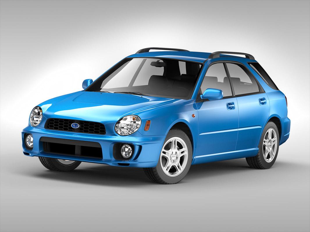 - subaru car 3D model
