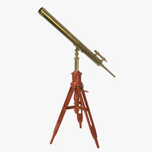 3D model antique telescope scope